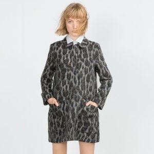 Zara Basic Alpaca Leopard Coat